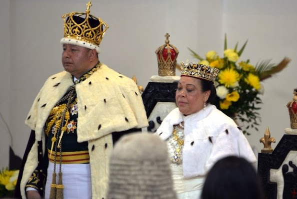 King Tupou VI of Tonga and Queen Nanasipau - The Japanese couple attended a luncheon hosted at the royal palace later in the day and chatted with Crown Prince Tupouto'a Ulukalala and other members of the Tongan royal family.