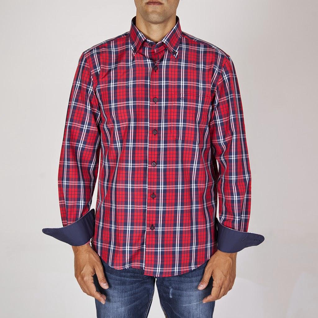 Camisa sport semientallada cuadro de gales para hombre de Paco Cecilio