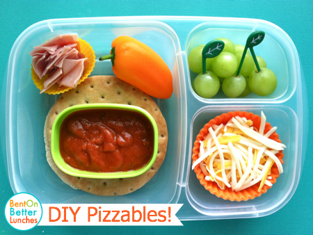 Make your own pizza lunch!