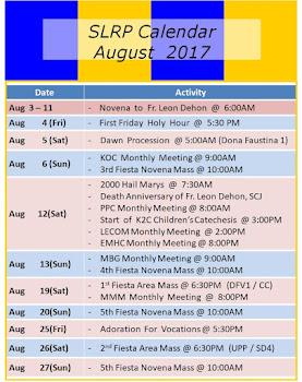 SLRP Calendar 2017
