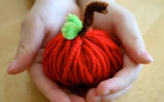 Decoracion para Halloween con Lana Reciclada