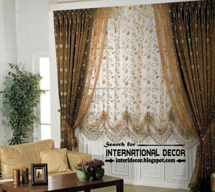 Modern blackout curtains with floral patterned shade, living room blackout curtains