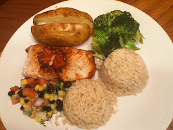 Teriyaki Salmon Mixed Plate
