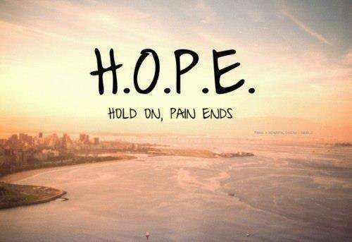 Hold on, pain ends