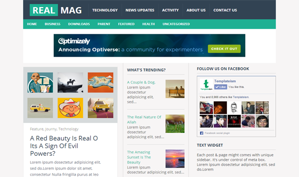 RealMag  Newspaper Blogger Template