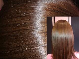Napszívta hajból meleg árnyalatú szőkésbarna hajfestés.