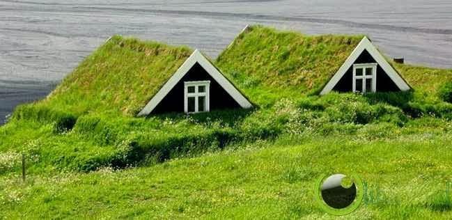 Turf houses, Islandia