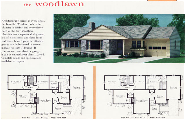 The vintage war bride mid century modest vs the mcmansion 1960s ranch style house plans