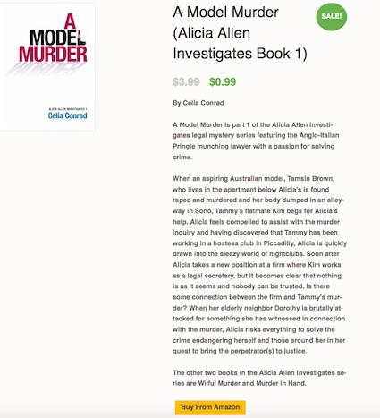 A Model Murder Celia Conrad Amazon