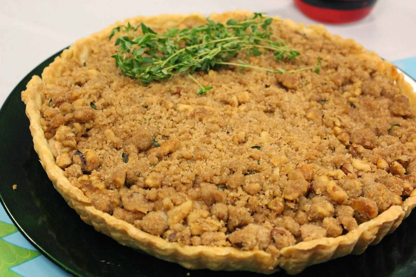 Pear Streusel Tart with Fresh Thyme | Runaway Apricot