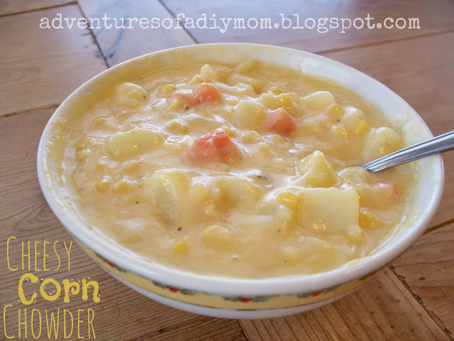 ... soup for dinner. This Cheesy Corn Chowder is full of potatoes, carrots