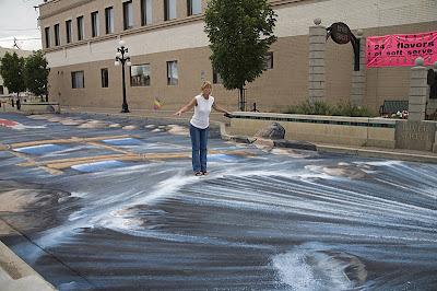 3d chalk art sidewalk - edgar mueller chalk art