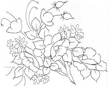 Desenho Lindo Risco Para Pintar Flores Em Tecido Papoulas