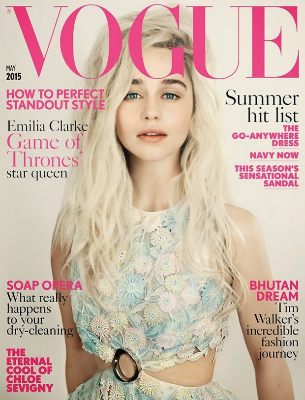 Emilia Clarke covers Vogue UK May 2015