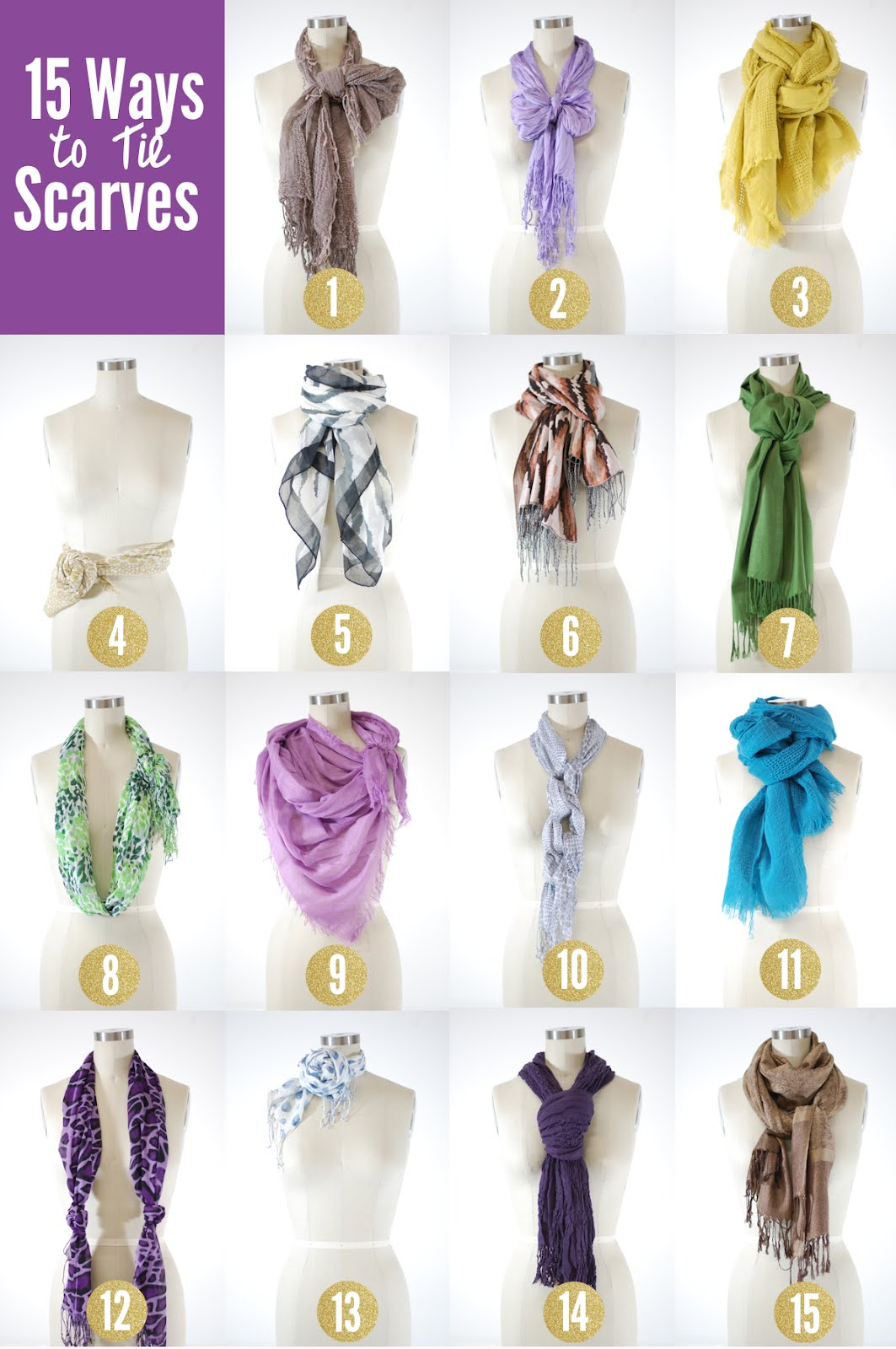 Stars for Streetlights 15 Ways to Tie Scarves Different Ways Tie Scarves Women