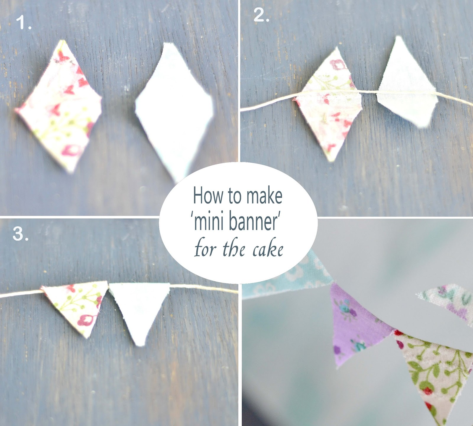 Curiositaellya How to Make Mini Banner Topper for a Cake DIY