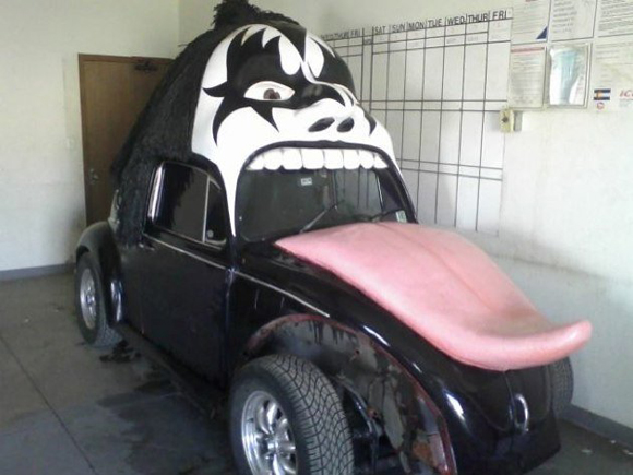 KISS VW Art Car - Giving Gene Simons The Tongue