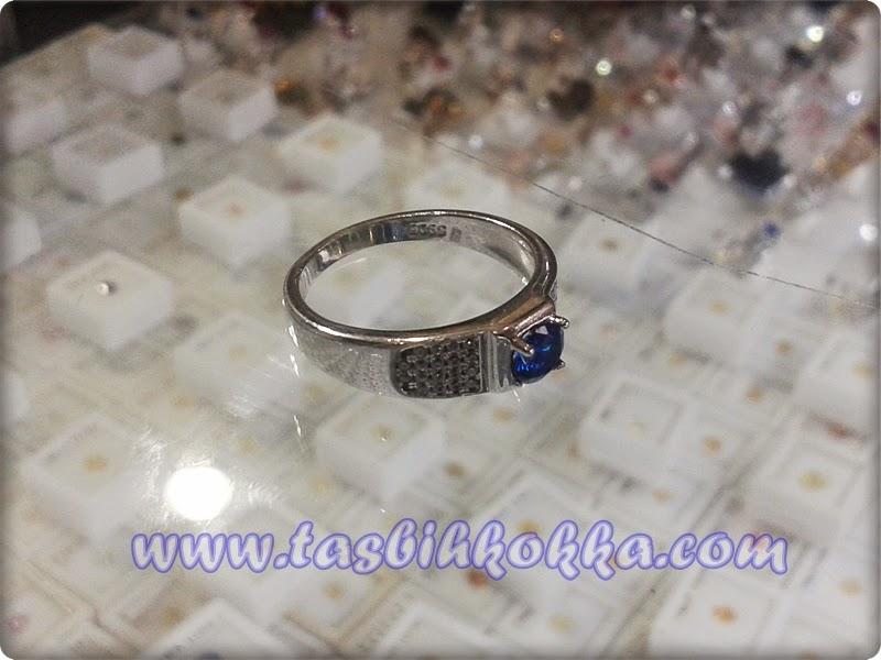 Cincin Blue Safir Mungil Perak