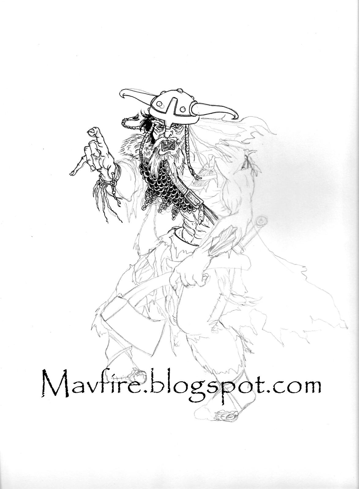 Viking zombie initial inks