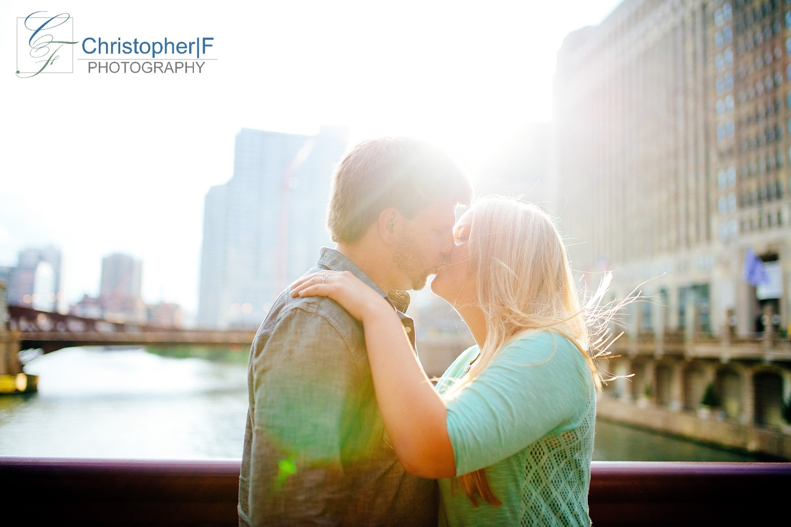 natural Light Chicago Engagement Photo