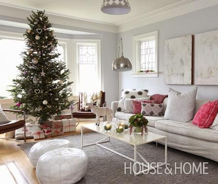 decoracion arbol navidad en blanco y plata