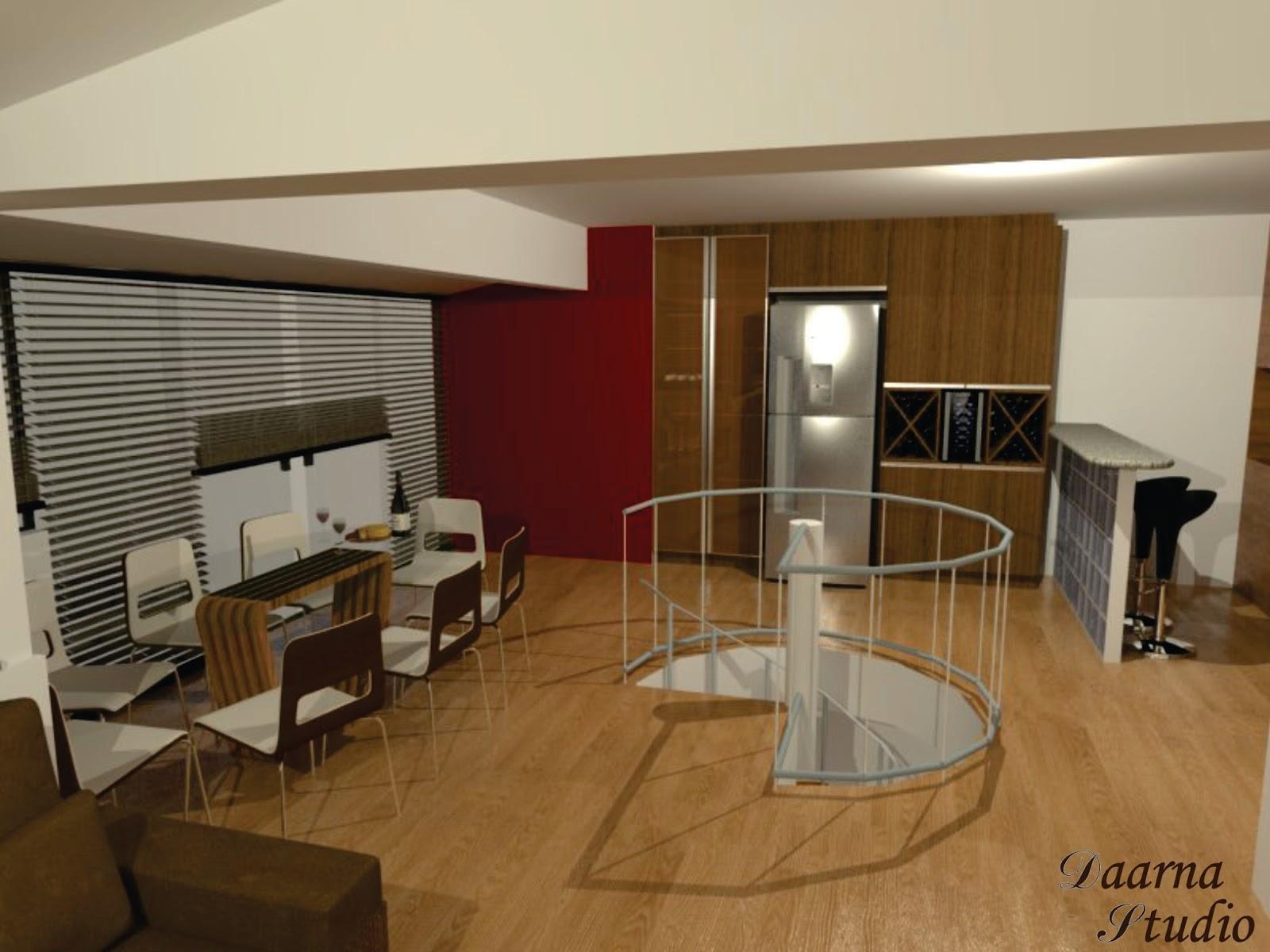Daarna Arquitetura & Interiores: Projeto de Reforma Cozinha #624120 1600 1200