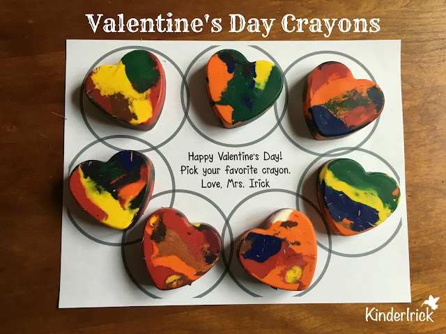 Make heart shaped crayons for Valentine's Day
