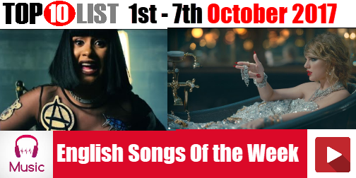 Top 10 English Songs of the Week 1st