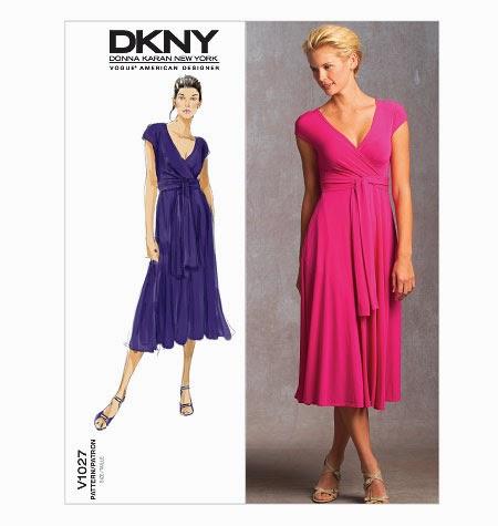 Knitting Pattern Wrap Dress : Vogue Patterns 1027: DKNY Knit Wrap Dress ~ bettinas blog