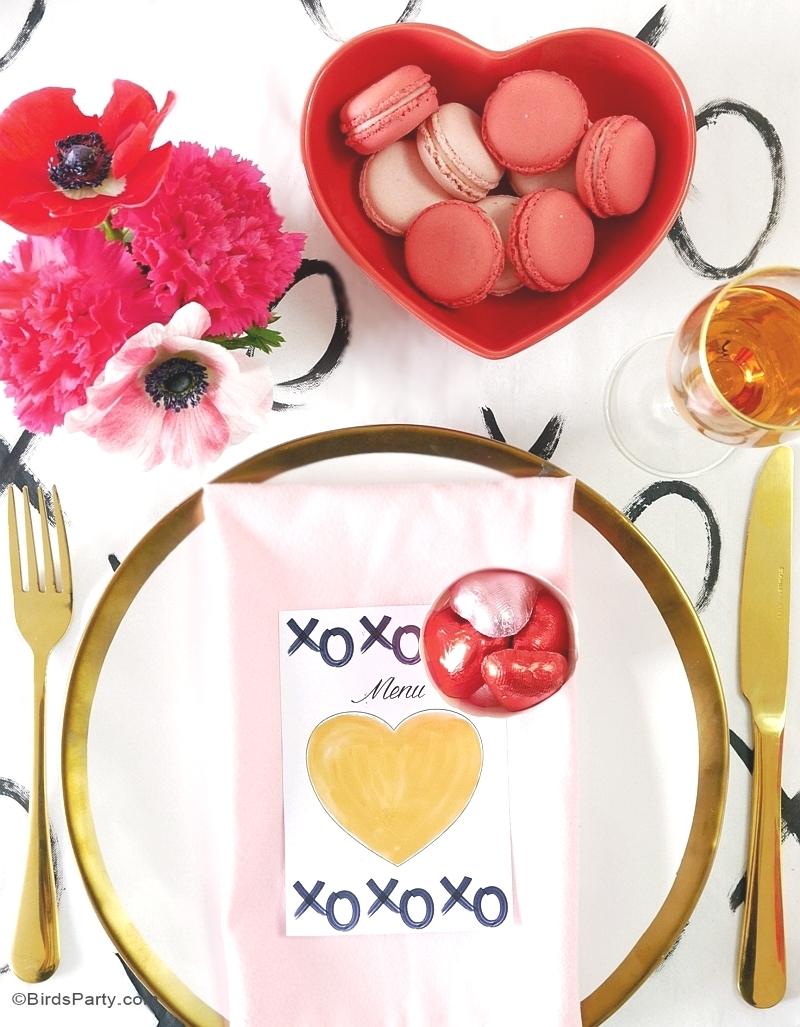 Table Moderne & DIY pour la Saint-Valentin - BirdsParty.fr