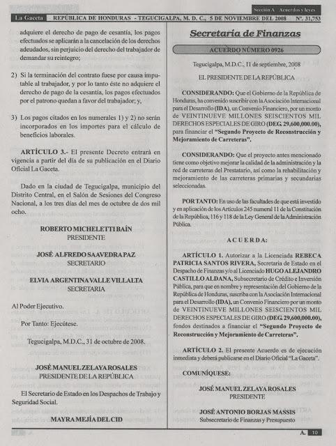 legislacion laboral honduras: