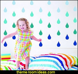 Raindrop Wall Decals - Peel and Stick Wall decals - nursery wall decals