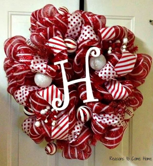 christmas deco mesh wreath - How To Make A Christmas Wreath With Mesh
