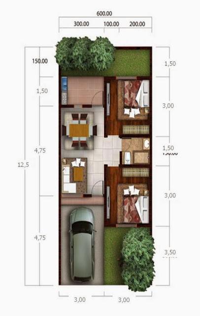 denah rumah type 36 renovasi desain denah rumah terbaru