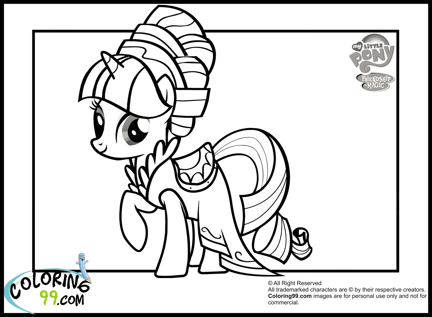 My Little Pony Rarity Equestria Girls Coloring Pages
