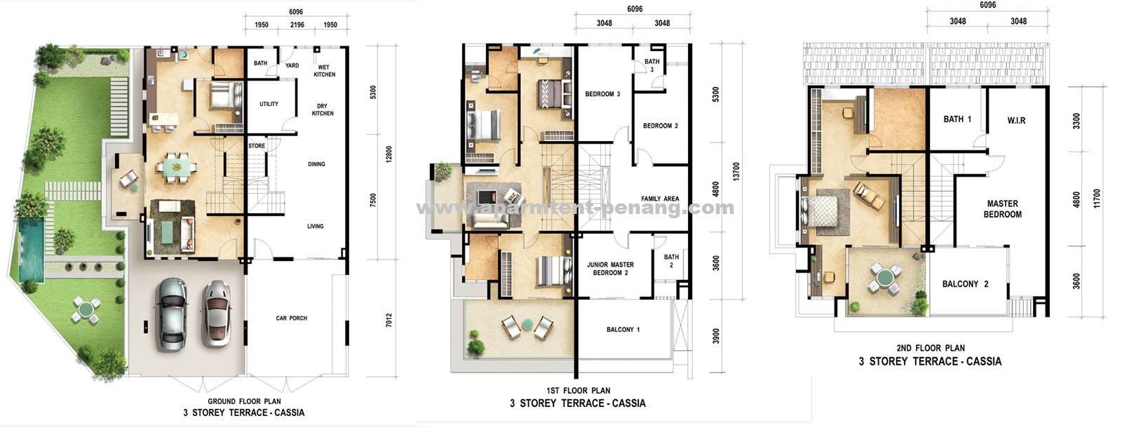 Cassia setia greens apartment for Terrace 9 classic penang