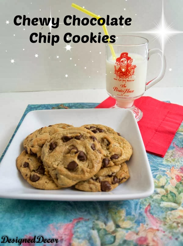 Chewy Chocolate Chip Cookies from Designed Décor