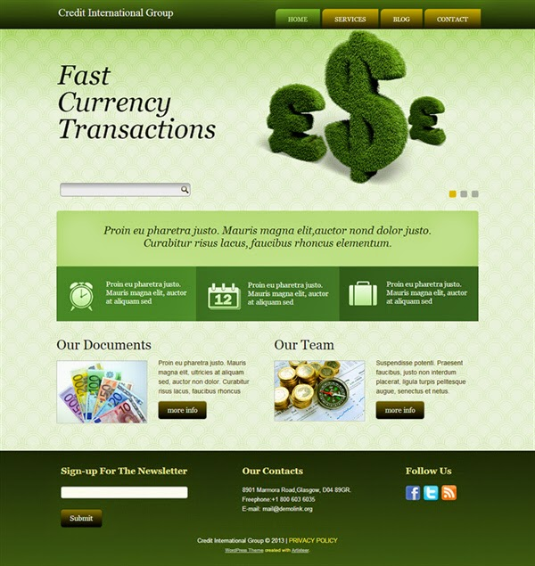 Credit International Group - Free Wordpress Theme