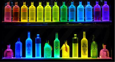 LED Liquor Shelves Display Wall Mount LIQUOR SHELVES Lighted Bar