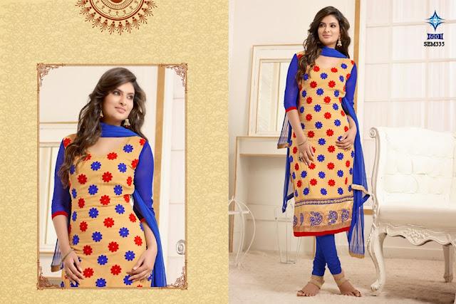 Sayali Bhagat Chanderi Cotton Long Anarkali Suit