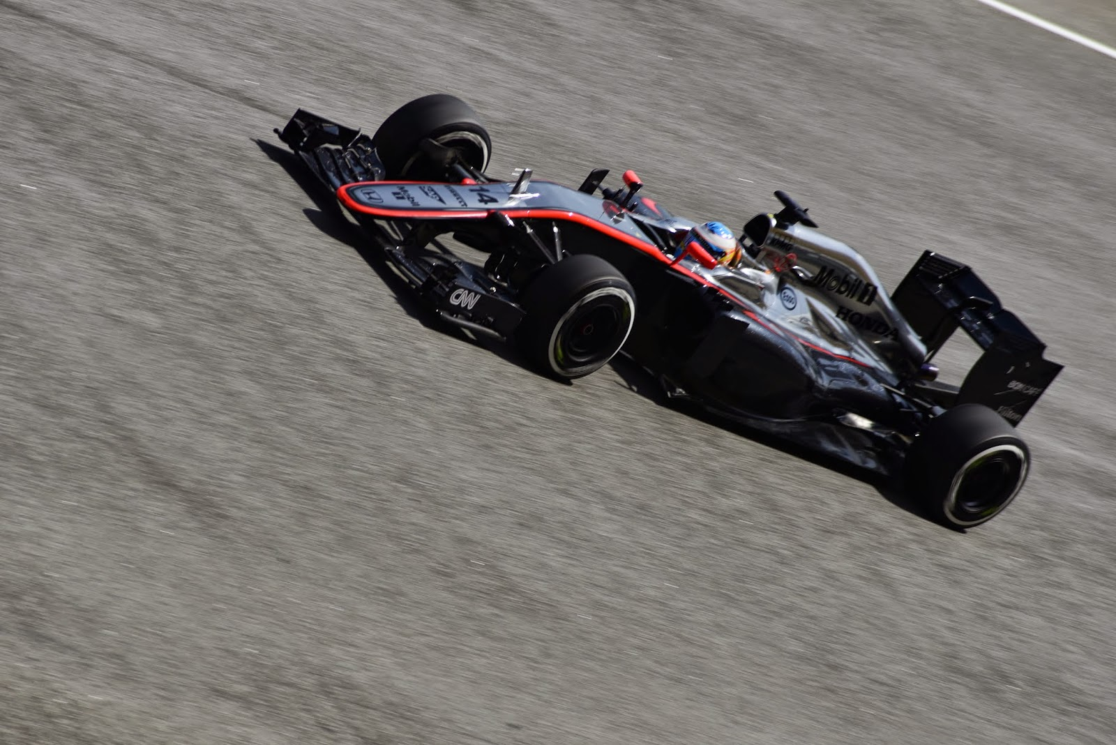 Fernando Alonso in Malaysia with a McLaren F1