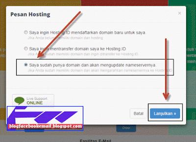 cara membeli domain + hosting