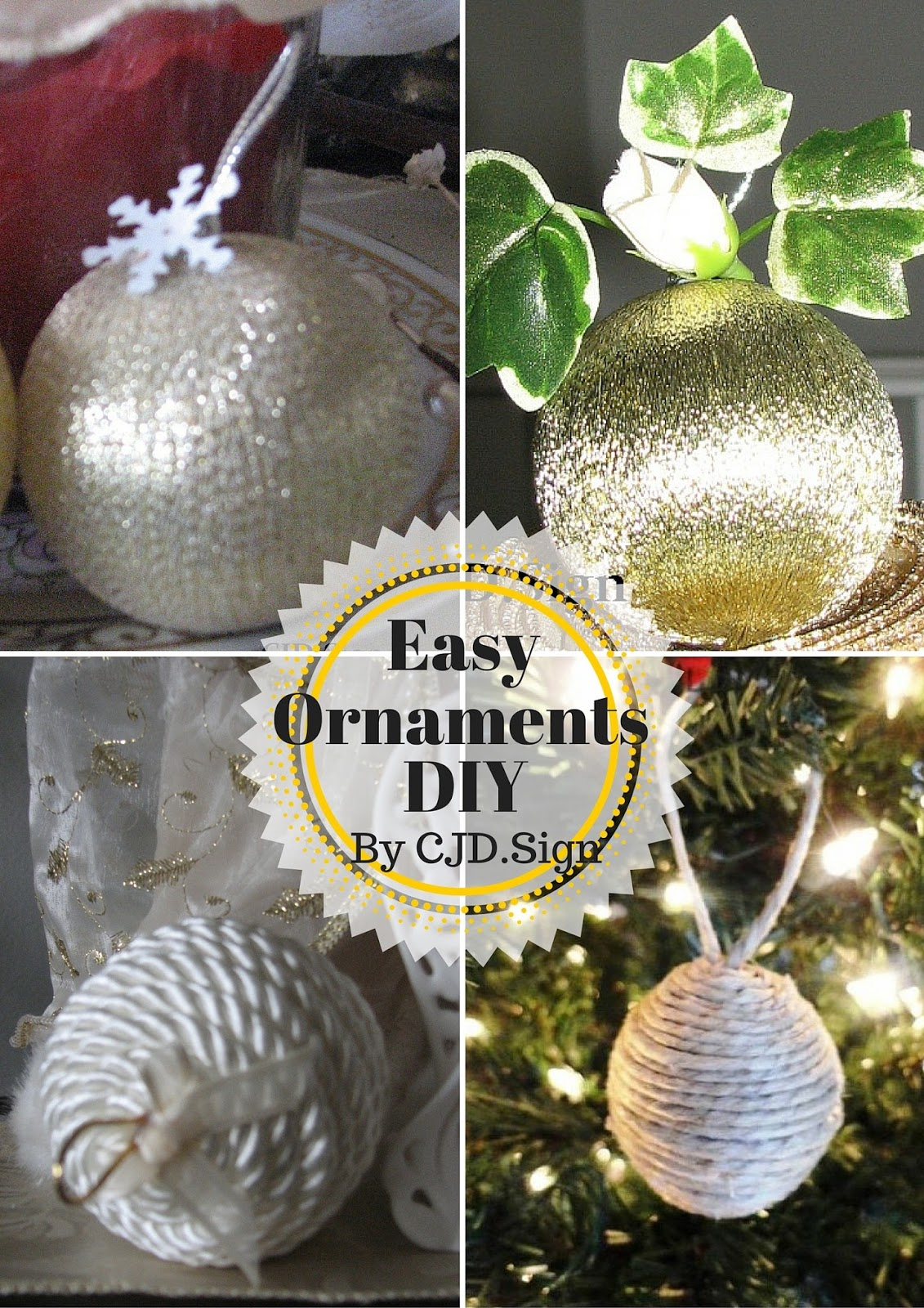 5 diy christmas ball tutorials plus extra ideas creative day thursdays - Christmas Ball Decoration Ideas