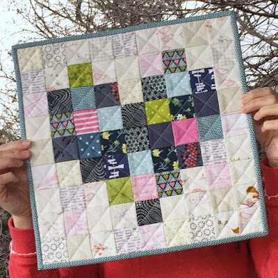 Pixelated Heart Mini Quilt by Amber Johnson (A Little Bit Biased)