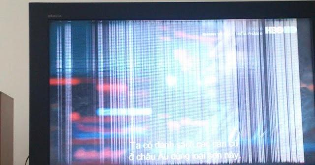 Màn hình tivi bị sọc ngang dọc màn hình
