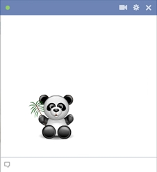 Panda Emoticon For Facebook