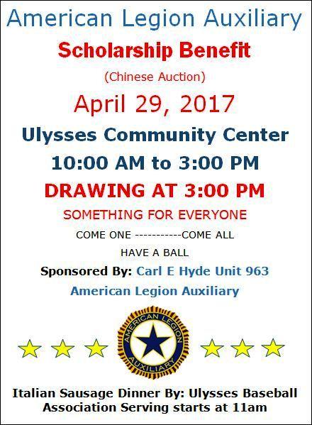 4-29 Scholarship Benefit, Ulysses