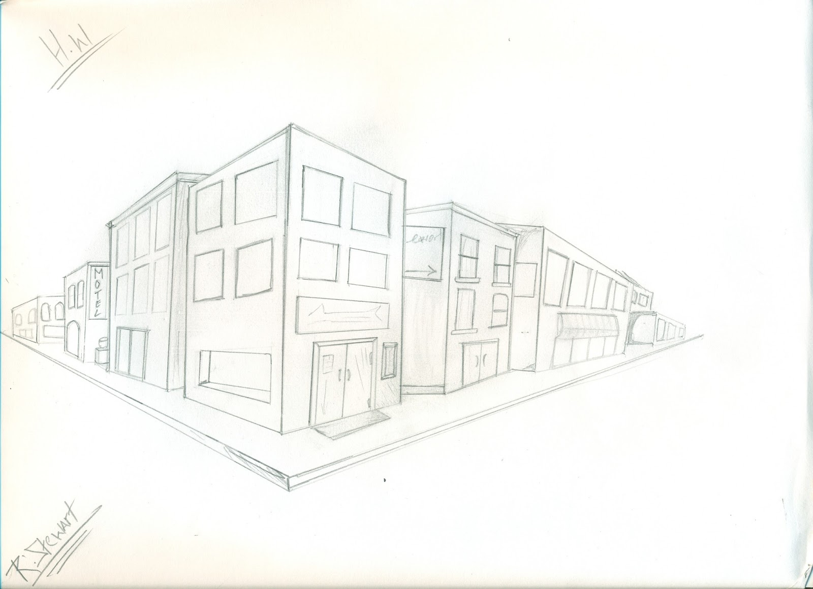 Key designer simple exterior design for Exterior 1 point perspective