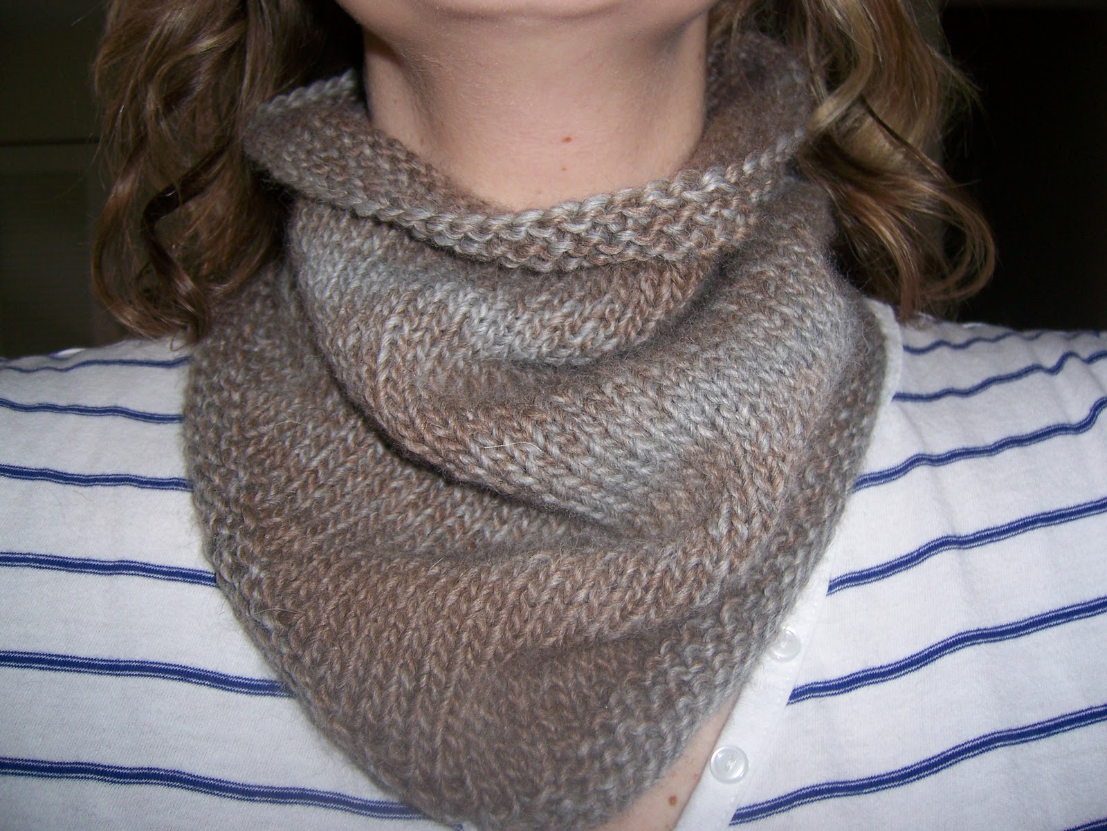 Knitted Cowl Pattern Circular Needles Interesting Design Inspiration