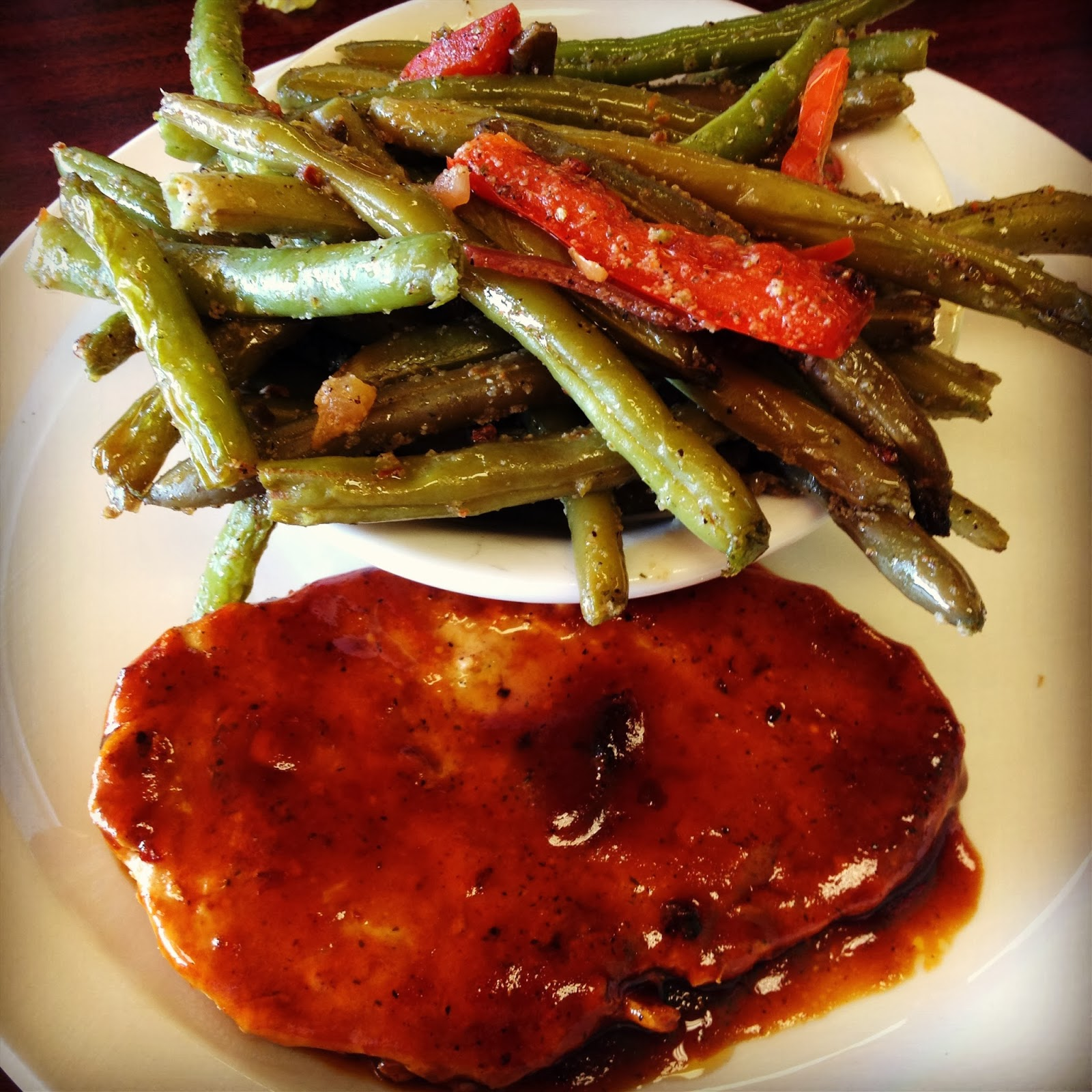 Vegan BBQ Style Boneless Breast and Garlic String Beans